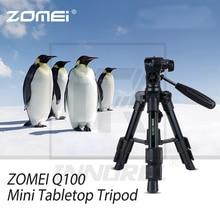 ZOMEI Q100 Draagbare Aluminium Statief Compact Desktop Macro Mini Tafelblad Beugel met Hoofd voor Sony Canon Nikon Camera Cellphone