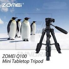 ZOMEI Q100 Portable Aluminum Tripod Compact Desktop Macro Mini Tabletop Bracket with Head for Sony Canon Nikon Camera Cellphone