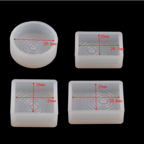 4 style for choose round square Rectangle DIY Geometric Silicone Resin Casting Necklace Pendant Jewelry Making Mold Mould Crafts