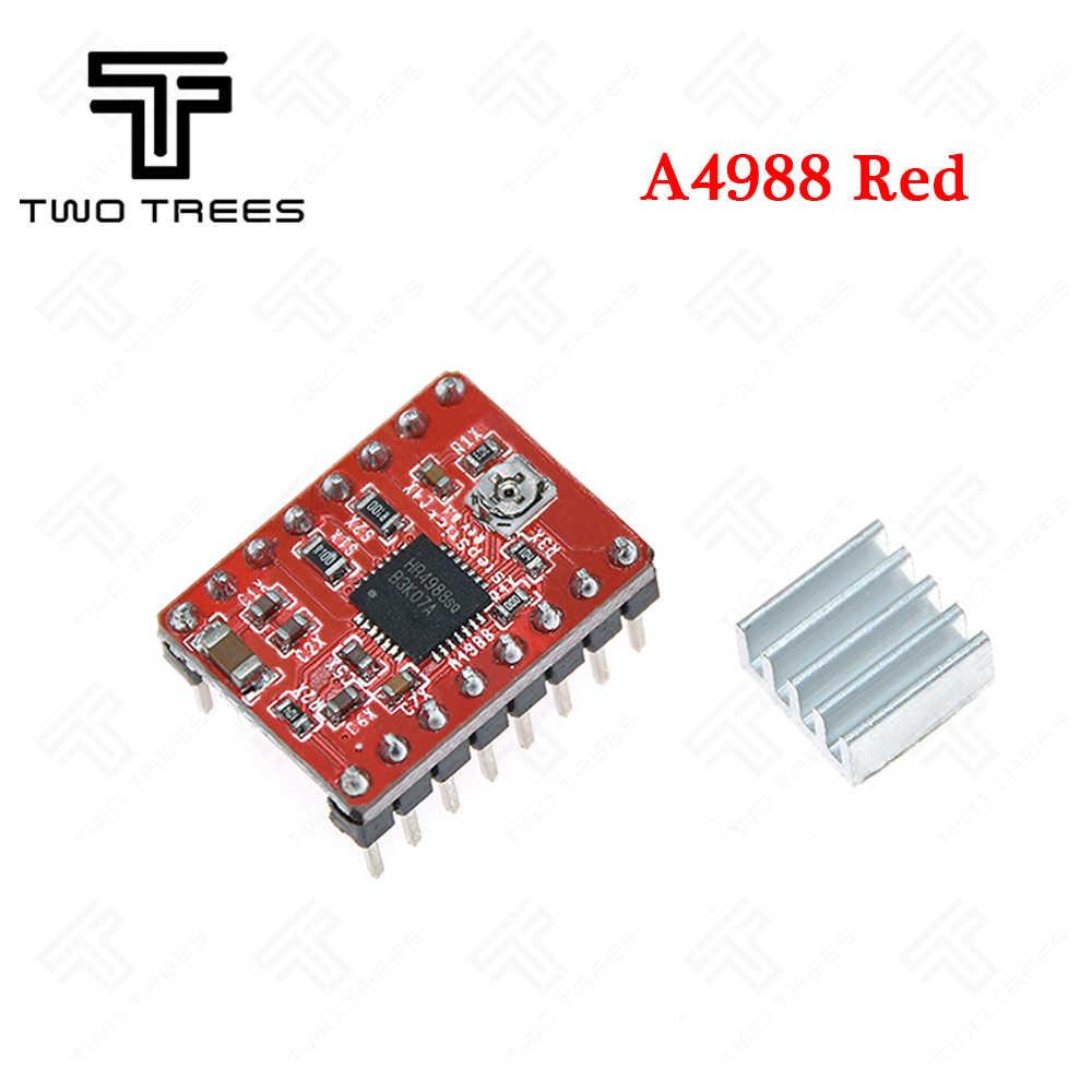 TWOTREES piezas de impresora 3D Reprap A4988 DRV8825 módulo controlador de Motor paso a paso con disipador térmico Stepstick DRV8825 Compatible con StepStick
