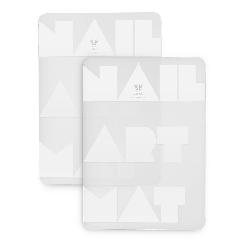 где купить CICI&SISI Professional Nail Art Work Space Mat Nail Stamp Stamping Plate Silicon Table Cover Protector Set of 2 дешево