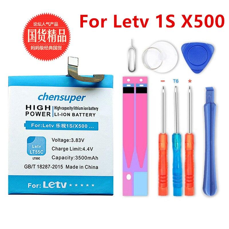 2019 NOVA 3500 mAh LT55C Para Letv X500 1 S bateria de Alta qualidade + número de Rastreamento