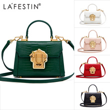 b146e56ede aliexpress.com - LAFESTIN Designer Serpentine Lock Handbag Real Leather Bag  2017 Fashion Women Bags Shoulder Luxury brands Bag bolsa - imall.com