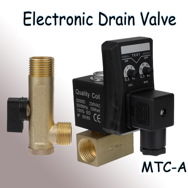 New AC220V IP65 Waterproof Electronic Drain Valve MTC-A Split Timed Automatic Drain Valve Filter Automatic Electronic DrainageNew AC220V IP65 Waterproof Electronic Drain Valve MTC-A Split Timed Automatic Drain Valve Filter Automatic Electronic Drainage