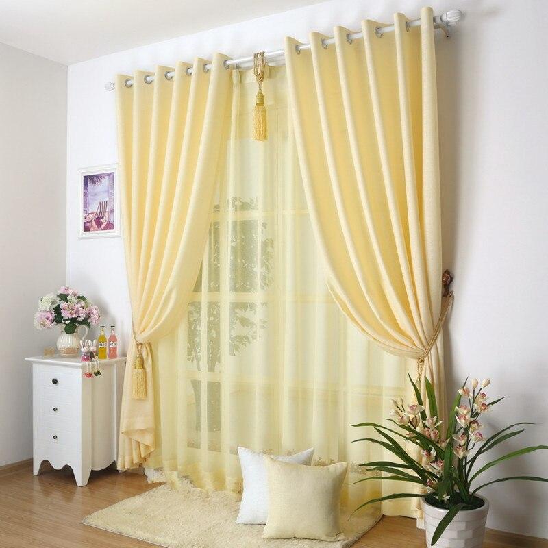Window Curtain Blackout 150270cm2pcs Tulle 30