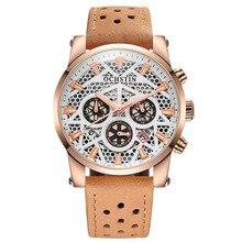 Montres ochstin cronógrafo fecha hombres reloj de cuarzo de cuero genuino reloj del deporte del reloj militar hombres reloj de pulsera relogio masculino