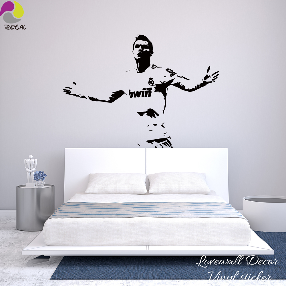 3d Vivid Window Football Soccer Ball Wall Stickers For Kids Rooms Living Room Wall Decals Gym Boys Room Decoration Elegant Shape Wall Stickers Home & Garden