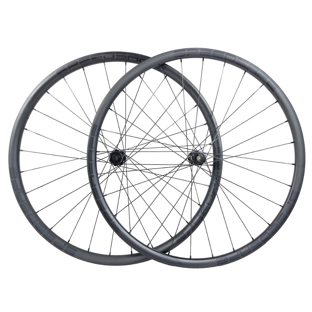 1445g 29er MTB XC 28mm asymmetric straight pull carbon wheels clincher tubeless hookless front 15x100 rear