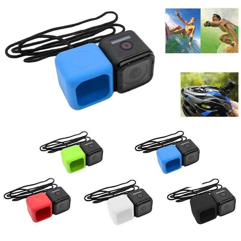 Новый силиконовый чехол + шнурки анти капля для GoPro Hero 4 сеанса Спорт действий Камера Интимные аксессуары 4*4*4 см 4 цвета