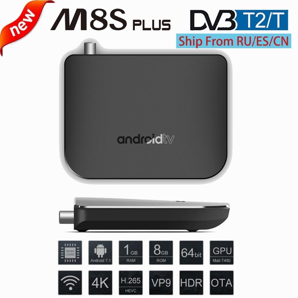 DVB T2 Android 7 1 WiFi TV Box Amlogic S905D 1G ROM 8G RAM 2 4G