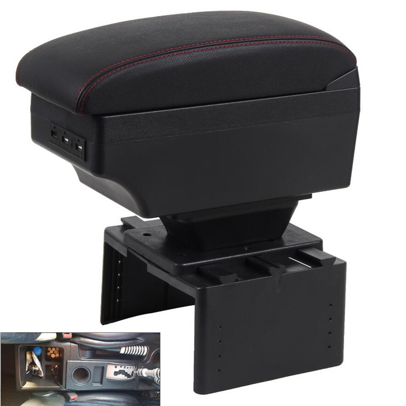 For Toyota fj cruiser armrest box USB Charging heighten Double layer
