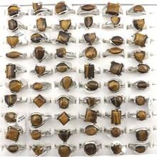 Frete grátis natural tigre olho pedra anel feminino anéis para promoção presente 50 pçs/lote atacado