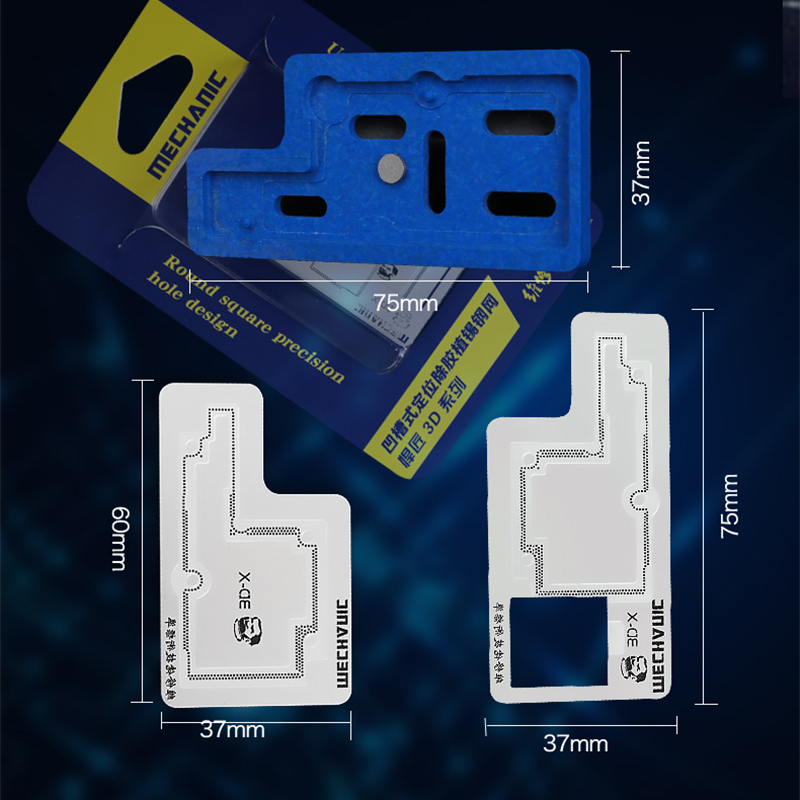 Tools : MECHANIC 3D BGA Stencil Solder Template for iPhone X Middle Layer Motherboard BGA Reballing Plate Stencils Kit