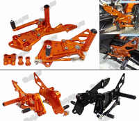 Waase dla KTM Duke 125 200 390 2011 2012 2013 2014 2015 2016 regulowane tylne zestaw podnóżek podnóżek podnóżek kołki