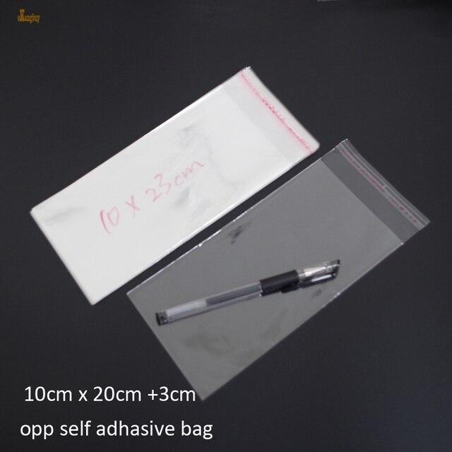 300pcs Clear Resealable BOPP/Poly / Cellophane Bag 10x20+3cm ... on