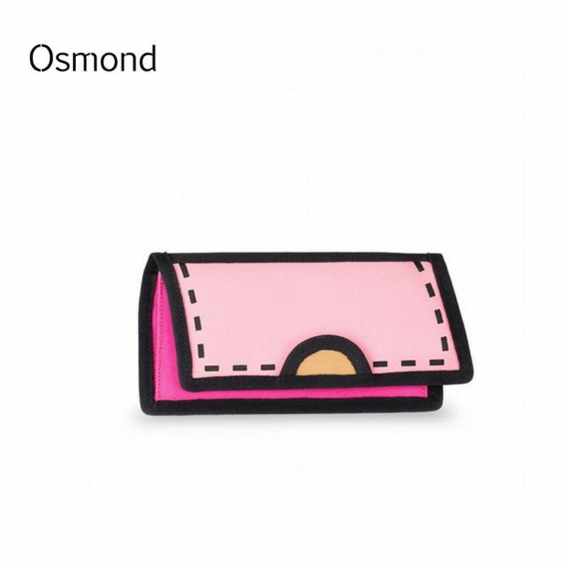 2D Comic Book Wallet Purse 3D Long Baobao Cute Cartoon Wallets Ladies Coin Purses For Girls Pockets Japanese Style