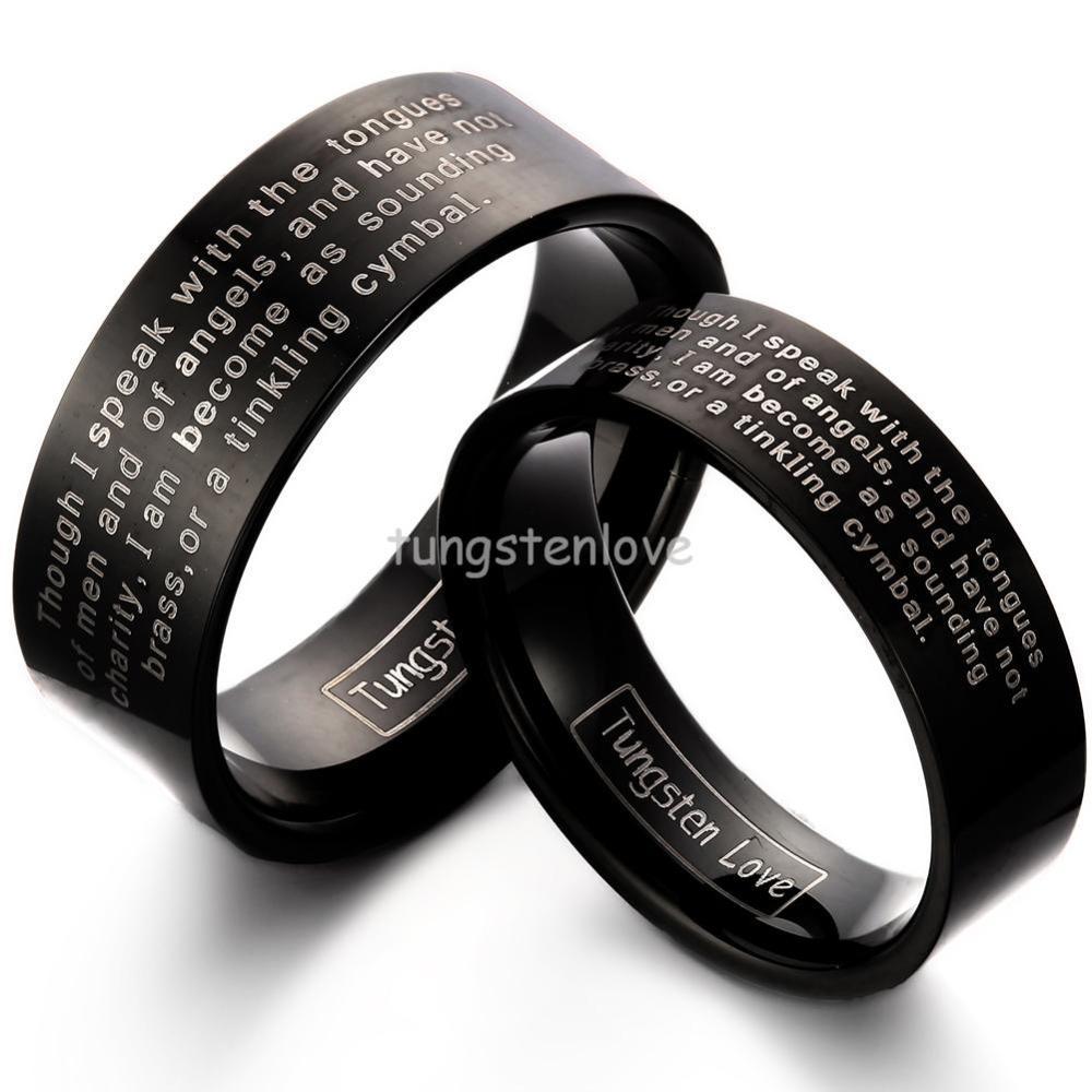 Cobalt Chrome 8MM Brushed Pipe Cut Wedding Band Ring P cobalt wedding band Home Cobalt Rings Loading zoom