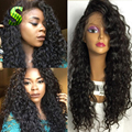 Curly Full Lace Human Hair Wigs Brazilian Virgin Hair Full Lace Wigs With Baby Hair Virgin Glueless Lace Front Human Hair Wigs