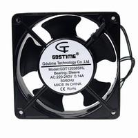 1 Pcs Gdstime AC Fan 220V 240V 120mm 120x120x38mm AC Metal Exhaust Cooling Fan 12cm 4