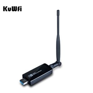 Image 1 - 1200 Мбит/с USB3.0 Wifi адаптер беспроводная сетевая карта 2,4G/5,8G Двухдиапазонная 5dBi антенна 802.11a/b/g/ac 2T2R Настольный Wifi приемник