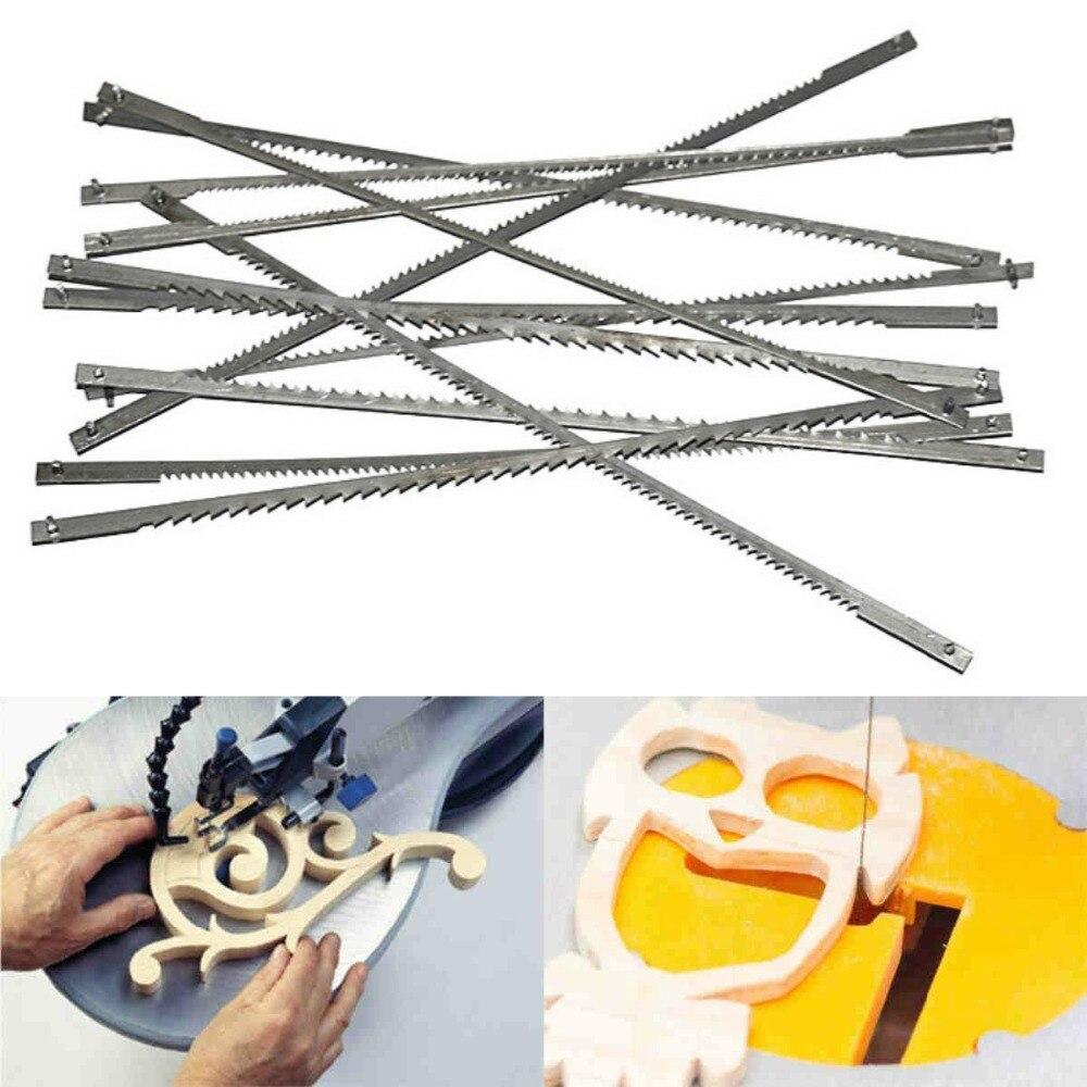 FNICEL 12x Pinned Scroll Saw Blades Woodworking Power Tools Accessories 127mm Black