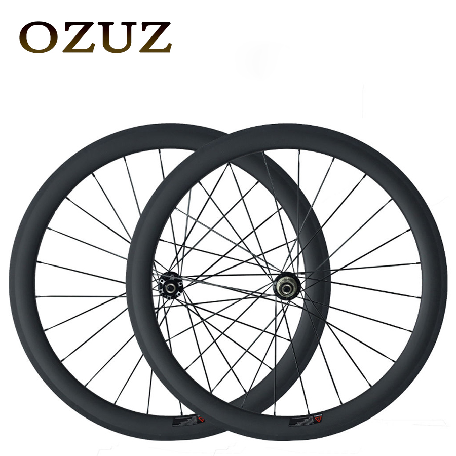 OZUZ Disc Brake Wheel 50mm Carbon Clincher Road Bike Bicycle Cyclocross Single Wheel or Wheelset 23mm Width Wheels 2017 spomann road bike carbon wheelset 50mm bicycle carbon clincher wheel set high temperature rims 3 colors bicycle parts