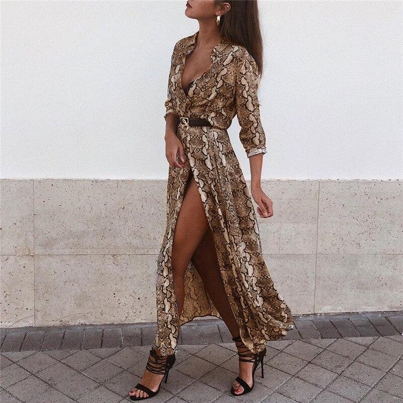 2019 sexy vestido de verano Persp profundo de cuello en V malla de mujeres Vestido de manga larga fajas fiesta Vestidos túnica Mujer Vestidos de Mujer