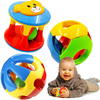 3pcs Lot Colorful Hand Rattles Bell Plastic Percussion Musical Educational Toys For Newborns Baby Game 0