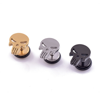 High Quality Fashion Punk Rock Style Skull Stud Earrings For Women men Stainless steel Hiphop Ear Jewelry Gifts 1 piece