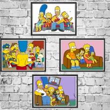 Симпсоны кино, комикс плакаты хорошее качество живопись с покрытием плакат белая бумага на стену для дома и бара Декор/наклейки