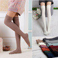 Women Solid Over The Knee Socks Cotton Rain Boot Cuff Stockings Leg Warmers Long Thigh High Socks for Female Girls Free Shipping
