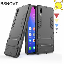 For Vivo X21 ud Case Silicone + Plastic Kickstand Phone Holder Anti-knock Phone Case For VIVO X21 ud Cover For Vivo X21 ud 6.28