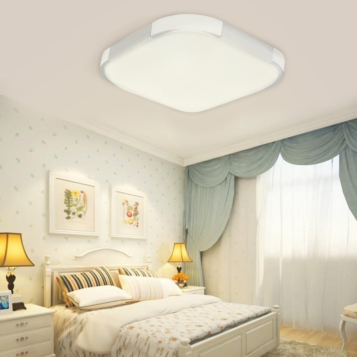 12/18/24W Modern Square LED Ceiling Lights Dimmable Led Ceiling Lamp Flush Mount Lighting Decor for Living Room Kitchen Hallways