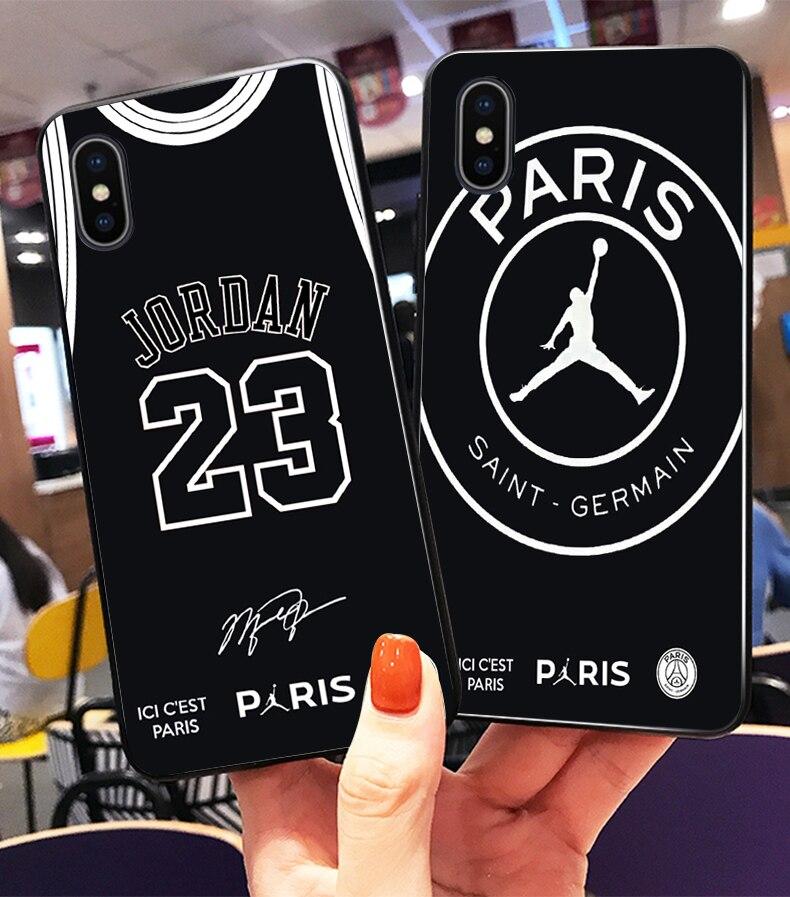 749aeb94853 Fly PSG Paris Football Jersey Jordan 23 Neymar Black Silicone Edge ...