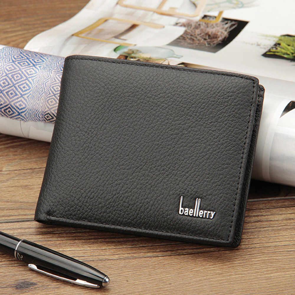 Роскошный небольшой кожаный бумажник для мужчин, тонкие маленькие мужские кошельки, Portomonee Cuzdan kaselek Walet Vallet Кошелек для монет, сумка для карт