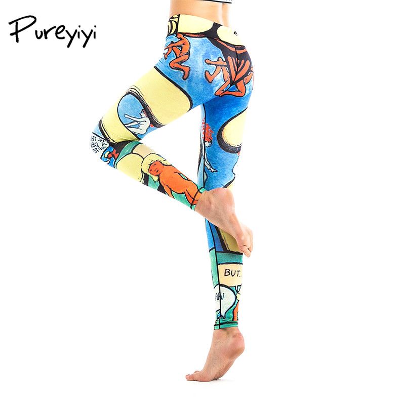 Floral Print High Waist Compression Yoga Pants Wide Waistband Quick Dry Striped Workout Yoga Leggings Fitness Apparal Gym Wear