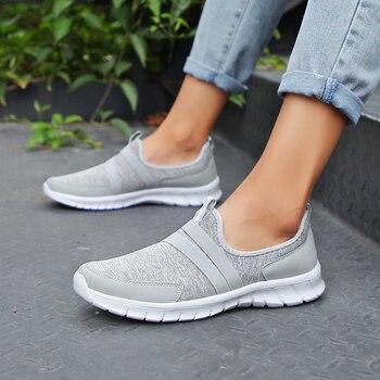 Kobiet Sneakers tenis dorywczo feminino przypadkowi buty Kobieta Mieszkania Slip on Splice panie buty Czarny Szary Niebieski Plus Rozmiar 40 41 42