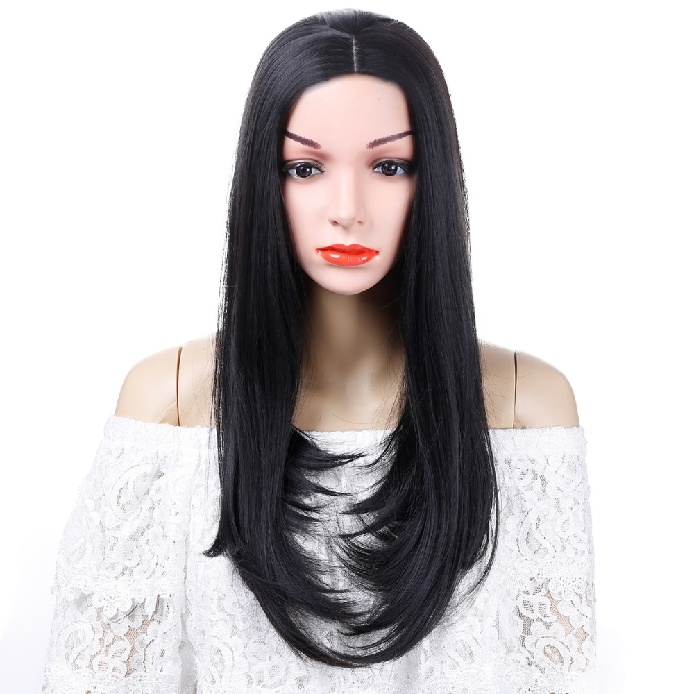 Long Straight Wigs Party Hair Accessories Heat Resistant Synthetic Hair Cosplay Wig for Women allaosify