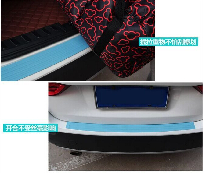 Car Rear Bumper Scuff Protective Sill Pedals Cover For Mercedes . Benz W204 W205 W211 Cadillac ATS SRX CTS For Lexus RX RX300 yandex w205 amg style carbon fiber rear spoiler for benz w205 c200 c250 c300 c350 4door 2015 2016 2017