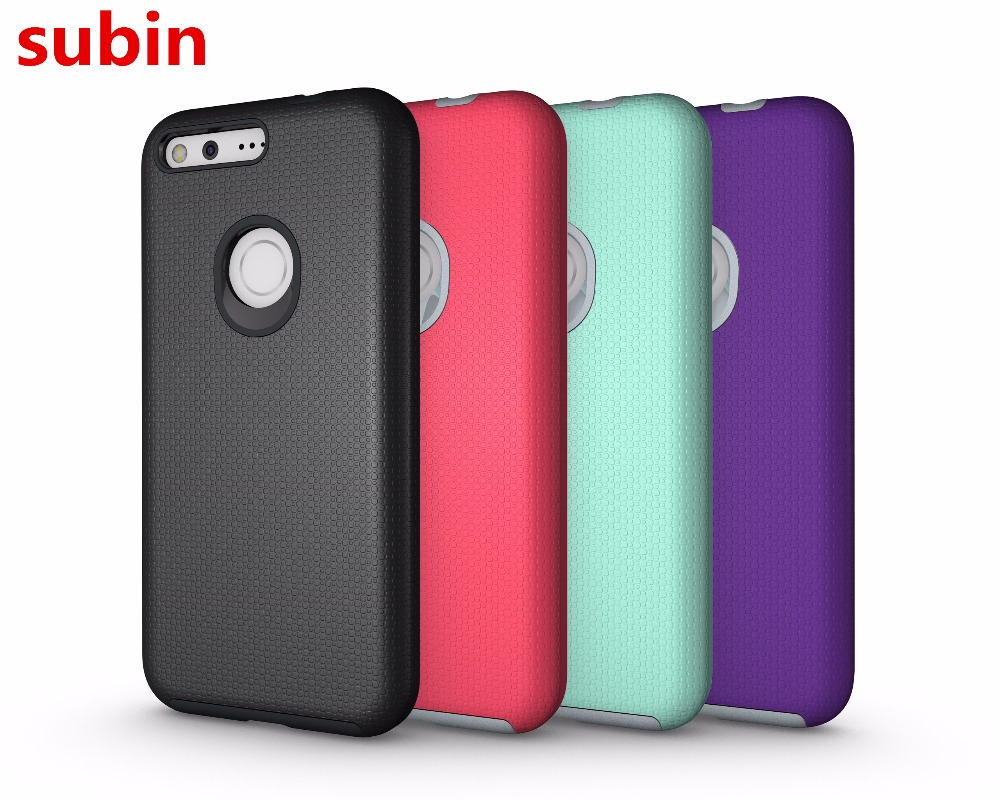 For Google Pixel 5.0inch Case Non-slip TPU+PC Silicon Armor Book Cover For Google Pixel Phone Bag Cases