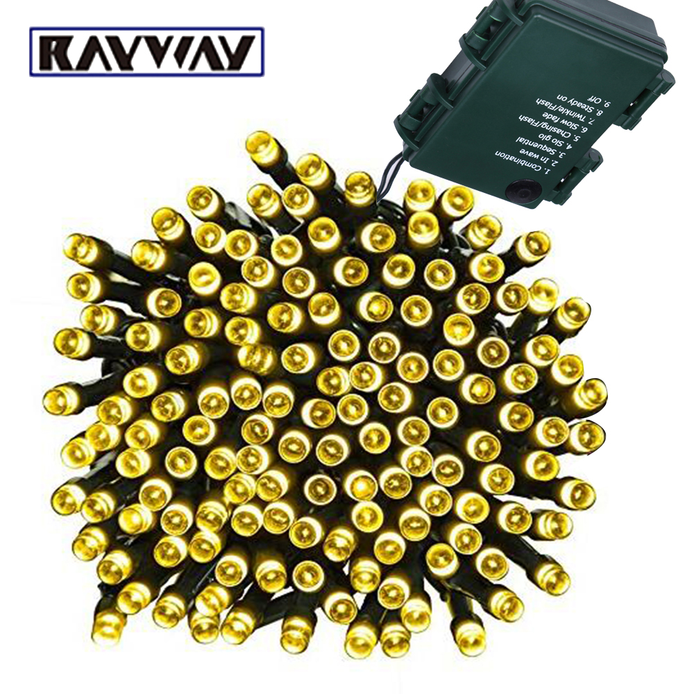 Battery Powered 10M Waterproof LED Fairy String Light Outdoor 8Mode 4.5V Xmas LED Battery Garland String Light For Christmas