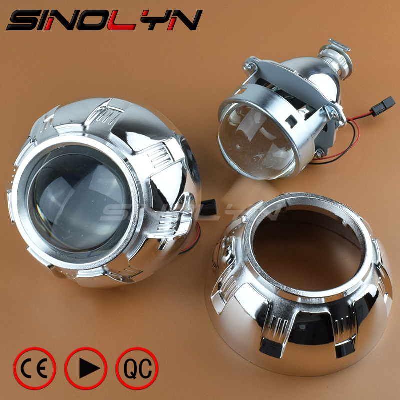Car Restyling Metal 3.0 inch HID Bi-xenon Projector Lens Headlight Xenon Headlamp Lenses Lighting H4 H7, Use H1 Xenon Bulbs