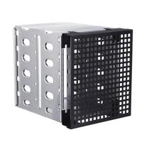 5.25 to 5x 3.5 SATA SAS HDD Cage Tray Rack Bracket with Fan Space Convert 3x Optical Drive Bays to 5x Hard Drive Positions