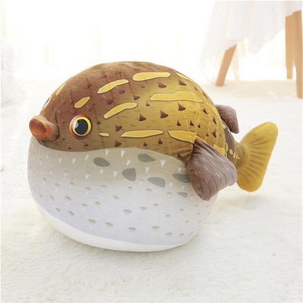 Fancytrader плюшевые морские животные Черепаха Осьминог Globefish игрушечный КИТ пенная частица набитый стул для детей 70 см X 50 см X 40 см - Цвет: yellow globefish