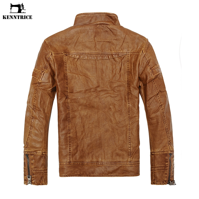 Mens Sheepskin Coat >> Kenntrice Autumn Pu Leather Jacket Mens Sheepskin Coat Brand Male Winter Faux Leather Jackets Fur Men Motorcycle Coats In Jackets From Men S Clothing