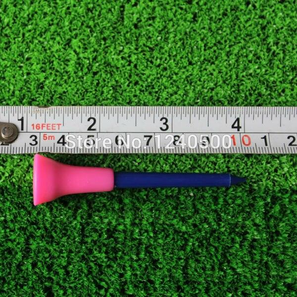 2017 New Golf Tools 50pcs 2 7/6 70mm Multicolor Plastic Golf Tees Rubber Cushion Top Golf Equipment Muticolor