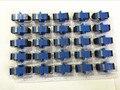 200 unids/lote SM SC Adaptador De Fibra Óptica SC Brida Acoplador SC/UPC Adaptador de Acoplador De Fibra