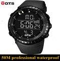 Moda masculina Esporte Militar Relógio de Pulso 2017 Nova OTS 7005 Relógios homens Luxo Marca 5ATM 50 m Dive LED Digital Analógico Quartz relógio