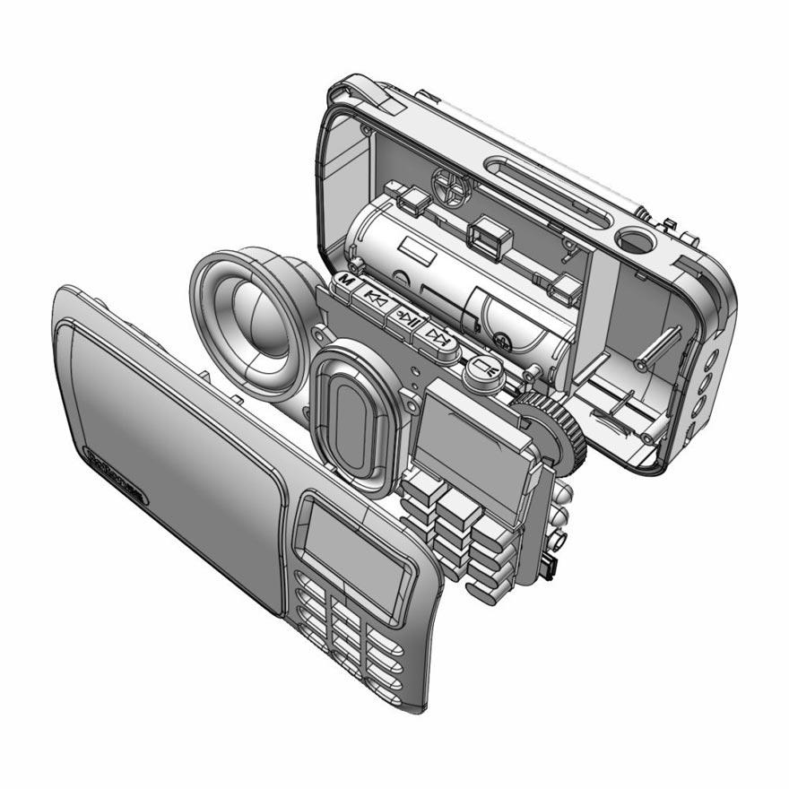 Rolton FM portatīvais mini radio skaļruņu mūzikas atskaņotājs - Portatīvie audio un video - Foto 6