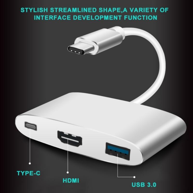 Type C To HDMI USB 3.0 Charging Converter Adapter Digital AV Multiport Adapter For New MacBook Air Pro Mac